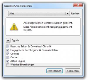 Firefox 3.6.8 Chronik löschen