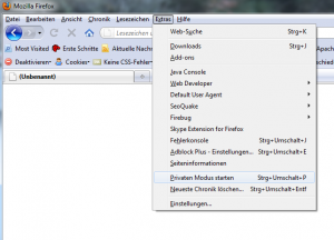 Firefox 3.6.8 Privaten Modus starten...
