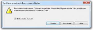 Opera 10.61 Internetspuren löschen - Bestätigung