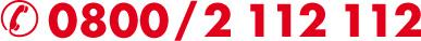EDV Service Hotline 0800/2 112 112 Notfallnummer
